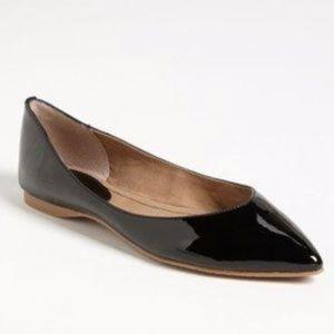 bp black patent point toe shoes
